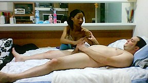 Cinese whore cum in mouth whit kissing...