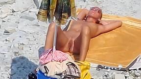 Beautiful amateur a beach...