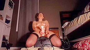 With sybian and wand...