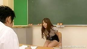 Sexy short skirt loves class...