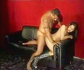 Kinky college girl latina boots fucked on couch...