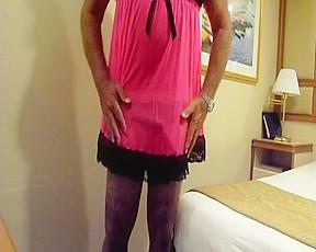 Wife wanks me in my pink slip...