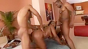 African pounding on the two whips...