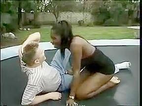 Sucks on trampoline...