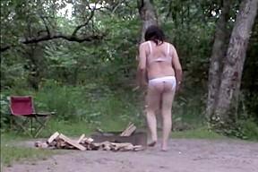 Seatless panties nude sissy campfire...