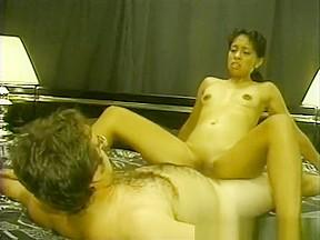Horny pornstar in black and ebony adult scene...