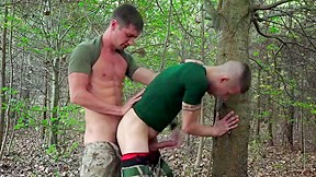 Horny soldiers woods...
