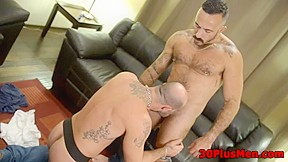 Gay bear rimmed after throating...