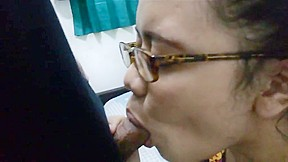 Indonesian nerdy girl blowjob and fuck...