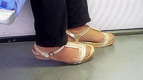 Hot nylon feet and long toenails 01...