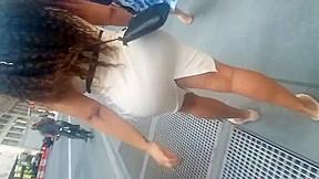 White tight dress bubble latina...