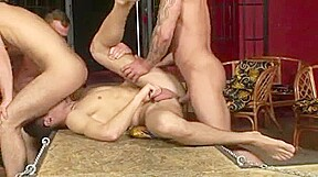 Eager group sex action...