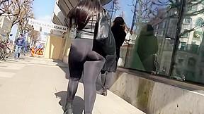 Shinny see trhu leggings...