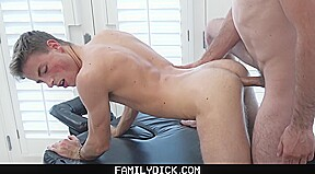 Familydick horny athletic boy massaged daddy...