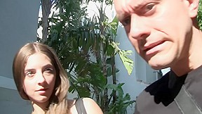 Leila in porn filmed in nature shows sucking...
