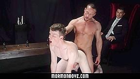 Mormonboyz shy ginger boy gets punished by men...