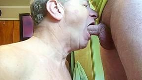 Fag sucks hard cock gets facial...