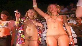 Two engaged women get naked at Spring Break