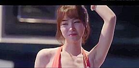 Jin se yeon shaking it in a bikini...