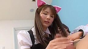 Hottest japanese chick rui saotome in amazing handjob...