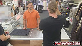 Cute straight guy goes exchange for the cash...