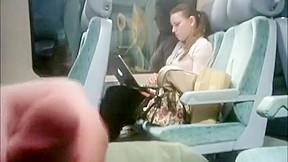 I love girls watching me on public train...