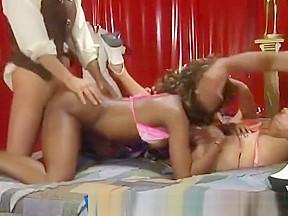 Dirty african babes take long boners...