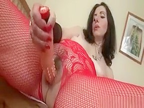 Slutty herself with dildo...