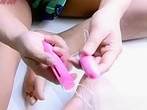 Milfs pussy toy and bj...