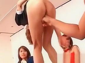 Asian schoolgirl getting cunt fingered in class room...