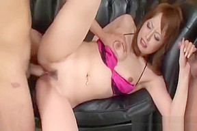 Ichika asian babe gets hairy pussy spread and...