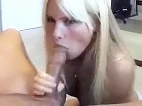 Hot blonde of me jizzing my gf...