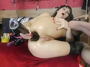 Fist slut wrecks and gapes her juicy rosebud...