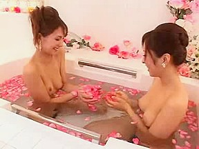 Nude massage with girls tub...