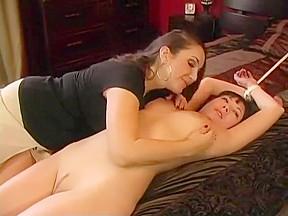 Quick lesbian bondage...