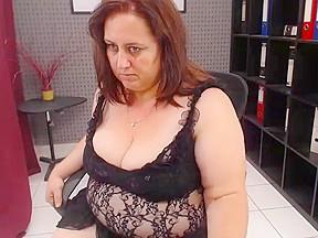 Mature webcam sex show chubby slut with a...