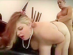 Boobed secretary gets pumped by gifted black...