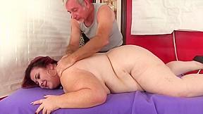 Giant tittied fat ass lady lynn gets massage...