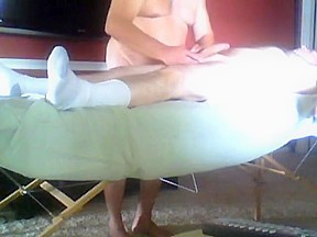 Massage and frottage with bear...