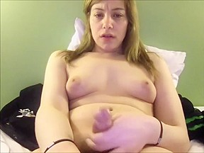 Pleasing herself to a nasty cumshot...