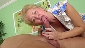 Granny tracy cocksucking and handjob...