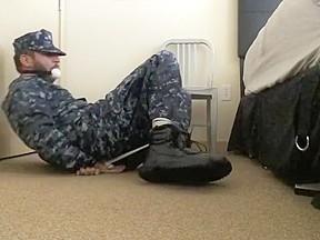 Hogtied navy...