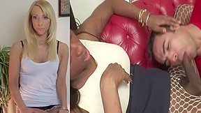 Blonde goddess helps porn addiction...