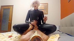 Crossdresser have wild sex...
