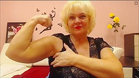 Granny flexes her biceps...