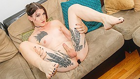 Stunning lena jade brought a buttplug couch...