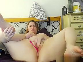 Big saggy anal dildo boobs...