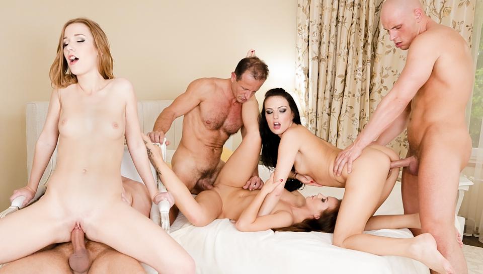 Samantha Johnson, Alexis Crystal, Bella Baby in Swingers Orgies #08, Scene #03