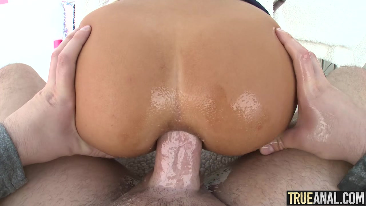 TRUE ANAL Blonde Honey Blossom has her ass creampied
