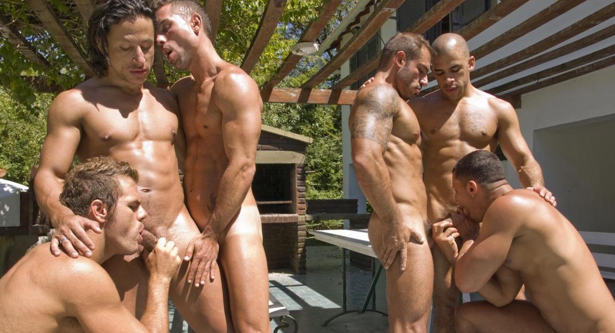 Angelo Marconi & Petter Fill & Austin Wilde & Sebastian Gola & Pedro Andreas in Heat Of The Moment, Scene #01